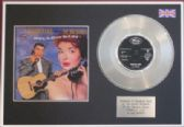 "BIG BOPPER - 7"" Platinum Disc + cover -CHANTILLY LACE"